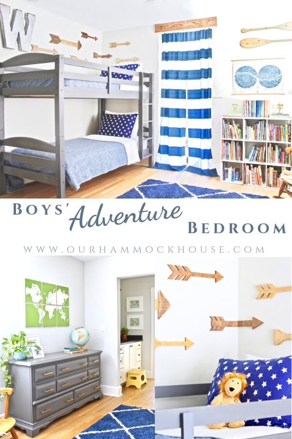 Boys\' Adventure Themed Bedroom Reveal (with a secret hideout ...